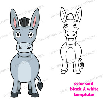 Puppet Template | Puppet Donkey Craft Printable Paper Bag Puppet Template Tpt