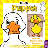 Puppet Duck Craft Activity | Printable Paper Bag Puppet