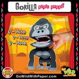 Puppet Gorilla Craft Activity