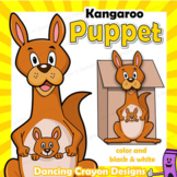 Animal bag puppet teaching resources teachers pay teachers for Kangaroo puppet template