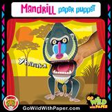 Puppet Mandrill Craft Activity | Printable Monkey Puppet