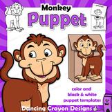 Puppet Monkey Craft Activity | Paper Bag Puppet Template
