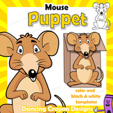 Puppet Mouse Craft Activity | Printable Paper Bag Puppet Template