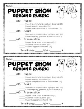 Puppet Show: This Puppet Activity is Perfect for any Book or Subject!