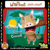 Puppet Warthog Craft Activity