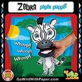 Puppet Zebra Craft Activity