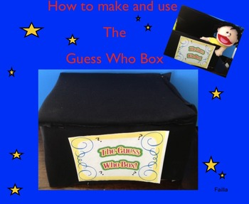Puppet for free !!! How to make and use the guess who bo