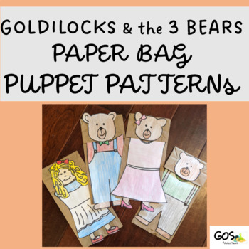 Goldilocks And The Three Bears Paper Bag Puppets