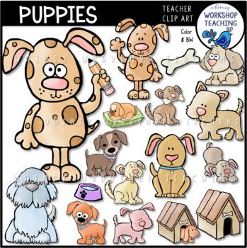 Puppies Clip Art Bundle