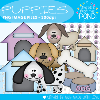 Puppies - Clipart / Graphics for Teaching