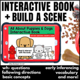 Puppies & Dogs Interactive Book for Language Therapy + Build-a-Scene Boom Cards™