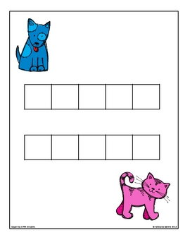 Puppies and Kittens~ Working with Five Frames Building Numbers 1-10