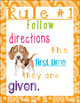Puppies and Paisley Class Rules