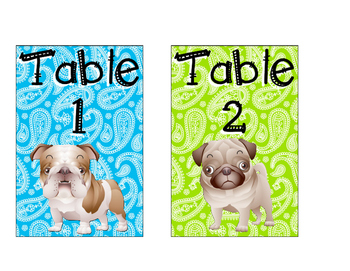 Puppies and Paisley Classroom Decor Pack