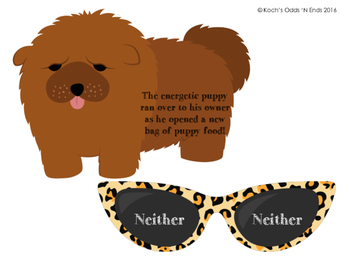 Puppies and Sunglasses Simile vs Metaphor Matching Activity