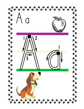 Puppy Alphabet Word Wall Headers  ( 2 Sizes )