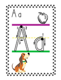 Puppy Alphabet Word Wall Headers  ( 2 Sizes )