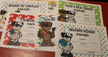 Puppy Award Certificates