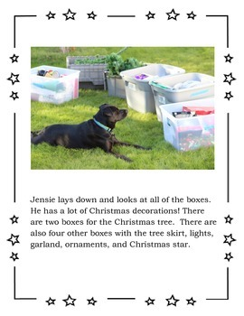 Puppy Christmas Tree Story