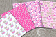 Puppy Dog Papers, Dog digital papers, Pink Puppy Papers, AMB-1925