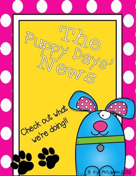 Puppy Days' Organizational Binder (Full Color or Black/White)