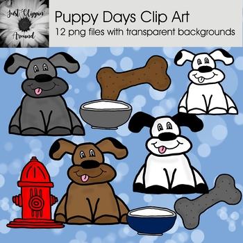 Puppy Days Clip Art