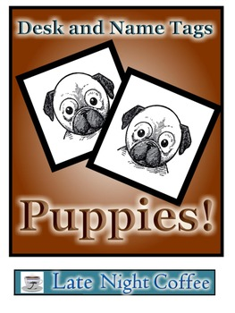Puppy Desk Tags and Name Tags