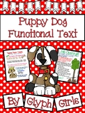 Puppy Dog Functional Text Reading Packet