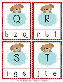 Puppy Dog Letter Match Clip Cards