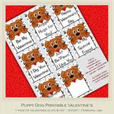 Puppy Dog Printable Valentine's