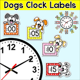 Clock Labels & Telling Time Worksheets - Puppy Dog Theme Classroom Decor