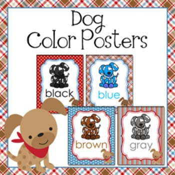 Puppy Dog Theme Color Posters
