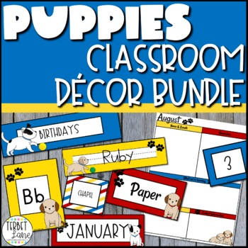 Puppy Dog Themed Classroom Decor Bundle