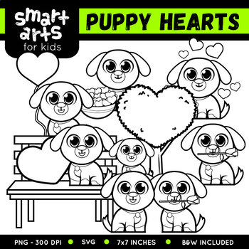 Puppy Hearts Day Clip Art