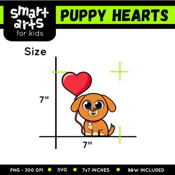 Puppy Hearts Day Clip Art