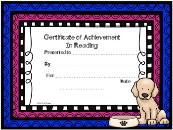 Award Certificates for Back-to-School: Puppy-Themed