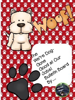 Job Bulletin Board for Back-to-School: Puppy Themed