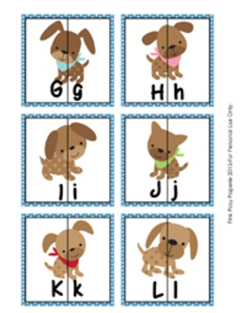 Puppy Letter Match Puzzles