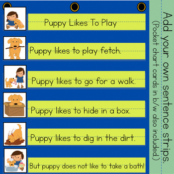 Puppy Likes To Have Fun:  Interactive Emergent Reader for the Sight Word: TO