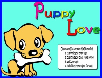 Puppy Love Classroom Decor Kit