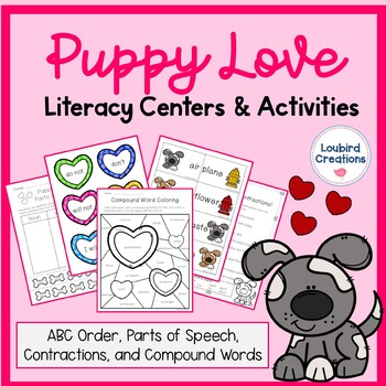 Literacy Centers - Compound Words, Contractions, ABC, Parts of Speech