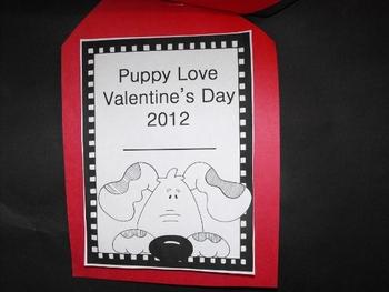 Puppy Love Glyph with Valentine Scrapbook
