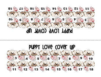 Puppy Love (Math Activities with a Valentine's Day theme)