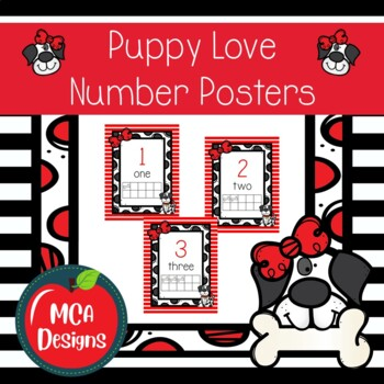 Puppy Love - Number Posters