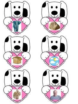 Puppy Love Opposites File Folder Game