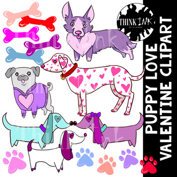 Puppy Love Valentine Clipart