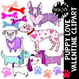 Puppy Love Valentine Clipart