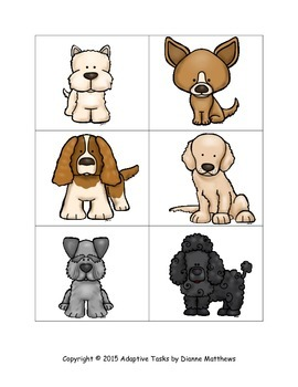 Puppy Matching and #1-10 Addition and Subtraction Clip Cards