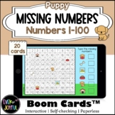 Puppy Math Boom Cards™ Missing Numbers 100 Chart