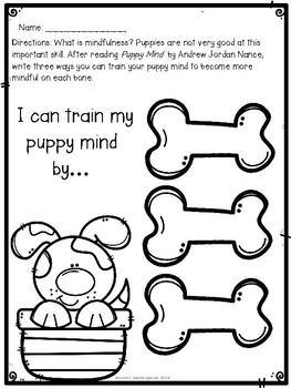 Puppy Mind: Mindfulness Reader Response Activities & Craft